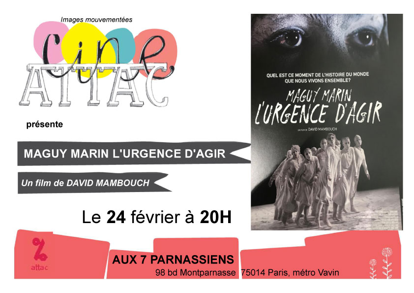 MAGUY MARIN L'URGENCE D'AGIR - Le 24 février à 20H